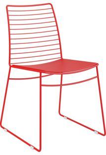 Kit 2 Cadeiras 1712 Couríssimo Móveis Carraro Vermelho