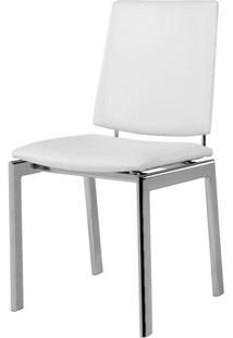 Cadeira 1949 Cromada Assento Multilaminado Branco - 12362 - Sun House