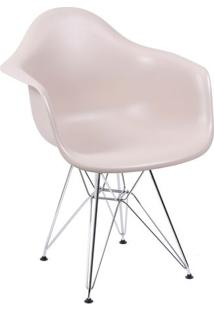 Poltrona Eames Dar- Fendi & Prateada- 82X63X44Cmor Design