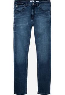 Calça John John Slim Messina 3D Jeans Azul Masculina (Jeans Escuro, 40)