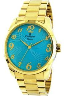 Kit Relógio Champion Analógico Cn26715Y Feminino - Feminino-Dourado
