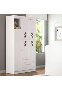 Guarda Roupa 2664 New Sorvete Seco – Multimóveis - Branco Premium