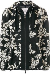 Moncler Jaqueta 'Morion' Floral - Preto