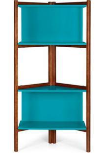 Estante Easy Cor Cacau Com Azul - 28988 - Sun House