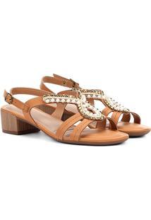 Sandália Com Tachas Dakota Salto Baixo Feminina - Feminino