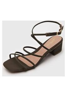 Sandália Dafiti Shoes Tiras Verde
