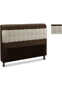 Cabeceira Rubi 160Cm Para Cama Box Js Móveis Chocolate Velut Com Areia Velur