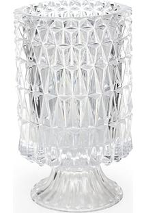 Vaso De Vidro Decorativo Ares 18 Cm Transparente Hauskraft