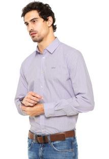 Camisa Colcci Padronagem Roxa