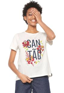 Camiseta Cantão Flamboyant Off-White