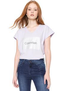 Blusa Calvin Klein Arte Lilás