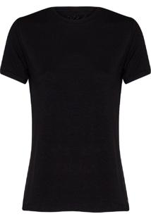 Camiseta Feminina Decote Careca Essencial Preto
