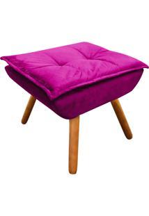 Puff Decorativo D'Rossi Opala Suede Pink