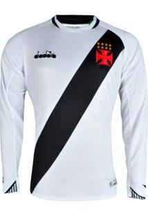 Camisa Vasco Ii 2018 S/N Torcedor Ml Diadora Masculina Branca