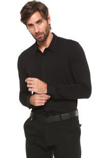 Camisa Calvin Klein Slim Lisa Preta