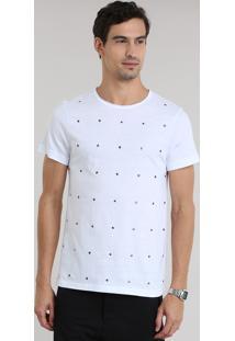 Camiseta Com Tachas Branca
