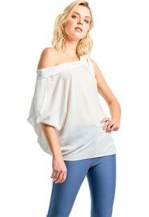 Blusa Mx Fashion Ombro Caído Ingrid Off White