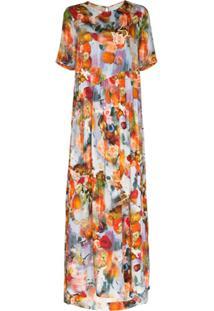 Collina Strada Ritual Printed Maxi Dress - Azul