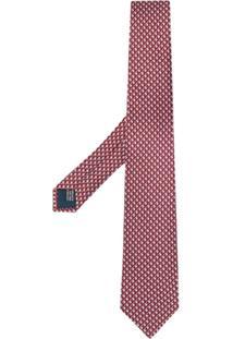 Lanvin Gravata Com Micro Padronagem - Marrom