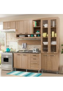 Cozinha Compacta Sem Tampo 9 Portas 5816 Argila - Multimóveis