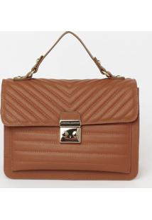Bolsa Com Bolso & Bag Charm- Marrom- 20X24X12Cmloucos E Santos