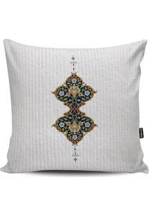 Capa Para Almofada Arabescos- Off White & Bege- 45X4Stm Home