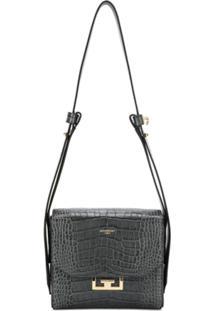 Givenchy Bolsa Tiracolo Com Efeito Pele De Crocodilo - Cinza