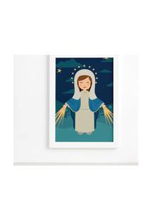 Quadro Nossa Senhora Das Graças Moldura Branca 22X32Cm
