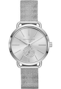 Relógio Michael Kors Essential Portia Feminino - Feminino-Prata