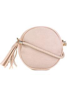 Bolsa Pagani Mini Bag Redonda Alça Tressê Barbicachos Feminina - Feminino-Off White