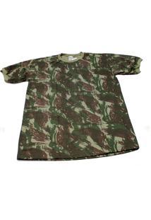 Camiseta Camuflada Exército Brasileiro Manga Curta