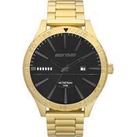 f1bcb29135 Relógio Mormaii Analógico Mo2115Ay-4P Masculino - Masculino-Dourado+Preto
