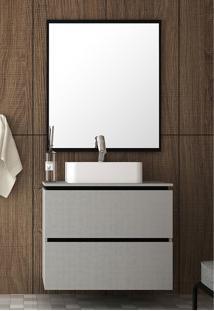 Conjunto Para Banheiro Urban Argento/Preto Bosi - Tricae