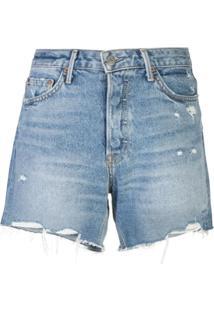 Grlfrnd Short Jeans Destroyed - Azul