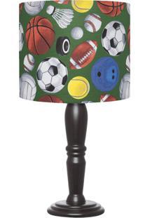 Abajur Carambola Champions Bolas Coloridas