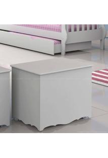 Baú Em Mdf Brilhante Branco - Matic Móveis