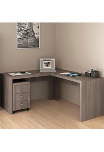 Mesa Para Computador De Canto Me4116 - Tecno Mobili - Carvalho