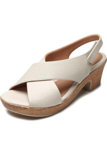 Sandália Comfortflex Cortiça Off-White