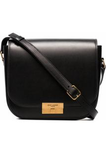 Saint Laurent Bolsa Tiracolo Betty De Couro - Preto