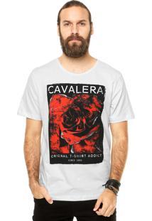 Camiseta Manga Curta Cavalera Rosa Off-White