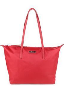 Bolsa Santa Lolla Tote Shopper Nylon Feminina - Feminino-Vermelho