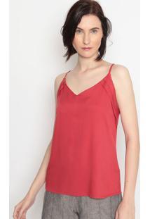 Blusa Com Recortes- Vermelho Escuro- Milioremiliore