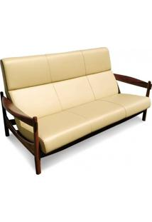 Sofá Malu Madeira Maciça Design Retrô