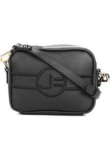 Bolsa Couro Jorge Bischoff Mini Bag Transversal Feminina - Feminino-Preto