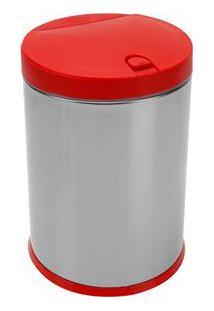 Lixeira Brinox Com Tampa Press 3050/212 Em Aço Inox E Polipropileno - 4 L