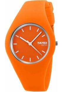 Relógio Skmei Analógico 9068 - Feminino-Laranja