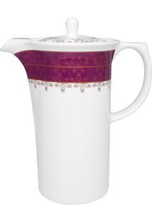 Conjunto De Café Oxford 3 Peças Dama De Honra Sm03-9227 Branco E Rosa