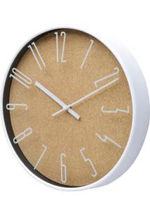Relógio Wood Bege 30,5X30,5X4,3 Cm