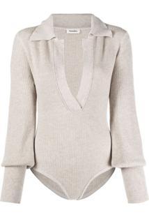 Nanushka Azha Knitted Bodysuit - Neutro