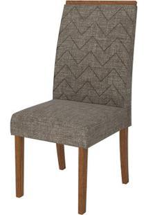 Cadeira Áurea 2 Peças - Rústico Terrara Com Linho Bronze